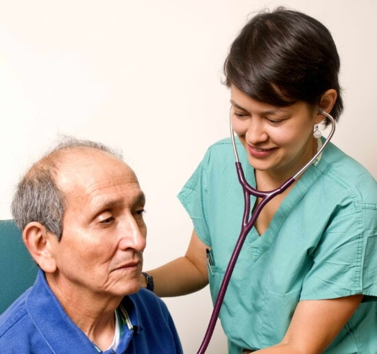 stethoscope, physician, hear, sounds, patients, body