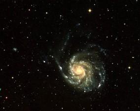 galaxia, profundamente, espacio