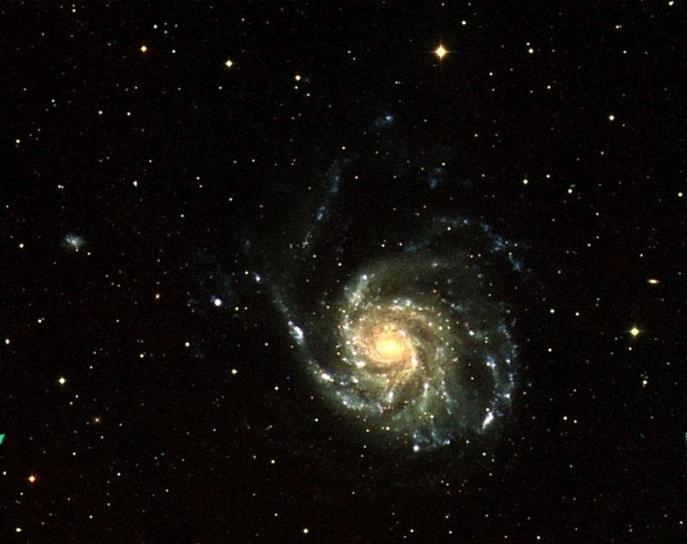 galaksen, dyp, plass