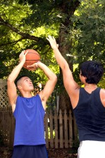 play, one, one, basketball