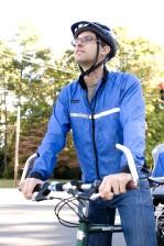 мужчины, велосипедист, велосипед