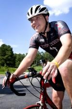 maschio, ciclista, equitazione, bicicletta