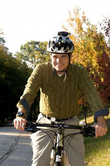 男人, 骑自行车, 骑车, 友好, 巷道