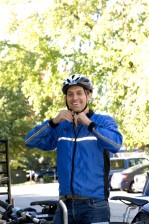 photograph, smile, male, bicyclist