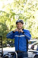 Fotografie, Lächeln, männlich, Radfahrers
