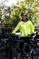 Fotografie, Lächeln, Frau, Radfahrers