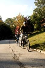 jahanje, otac, kći, jahanje, bicikl