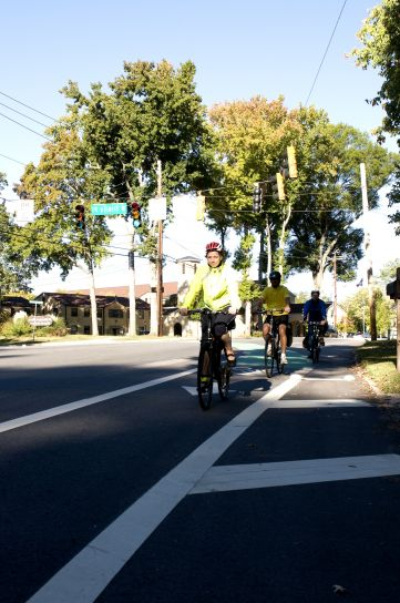 three, bicyclists