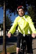 nainen, polkupyörän, ratsastaa