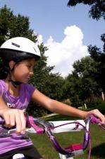 jong meisje, fiets