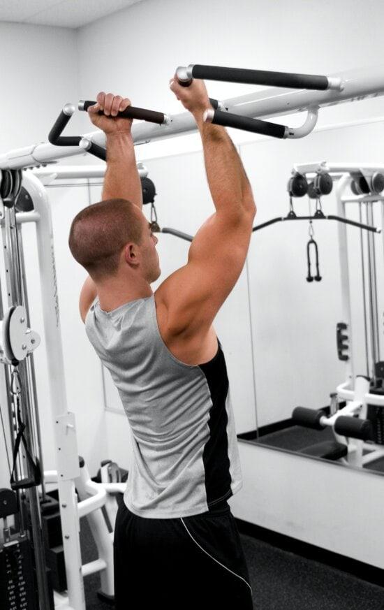man, image, gymnasium, various, strength, training