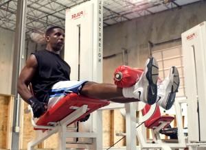 jambe, extensions, impulsion, l'extension jambe, la machine