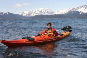 garçon, canotage, kayak