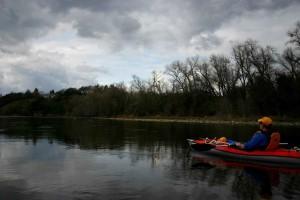 kayaker, river