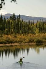 lone, canoe, kanuti, lake
