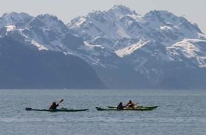 lone, kayaker, resurrection, bay