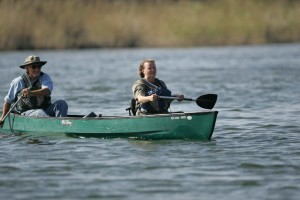 male, female, canoeing
