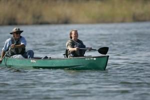 male, female, canoeing
