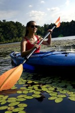 woman, kayaking