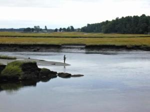 pêcheur, rivière