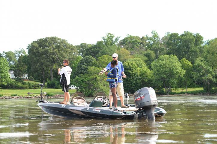 groupe, pêcheur, les participants