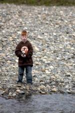 garçon, pêche, nature
