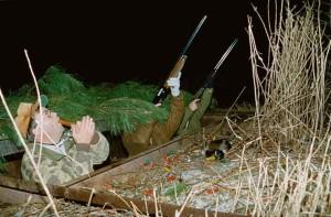 camouflaged, hunters, hunt, birds, night