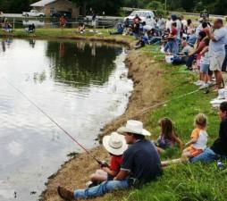cowboys, photographié, pêche