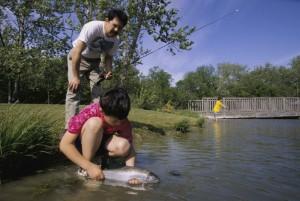 padre, hijo, pesca