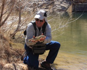Fischer, zu fangen, bestückte, Gila, Forelle