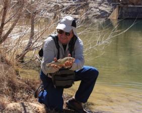 fisherman, catch, stocked, gila, trout
