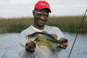 pêcheur, fièrement, spectacles, catch
