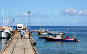 fishermen, Grenada, start, back, sea