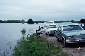 fishing, river, cars, coast