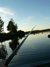 fishing, rod, dusk