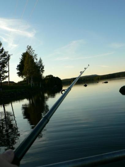 ribolov, štap, sumraka