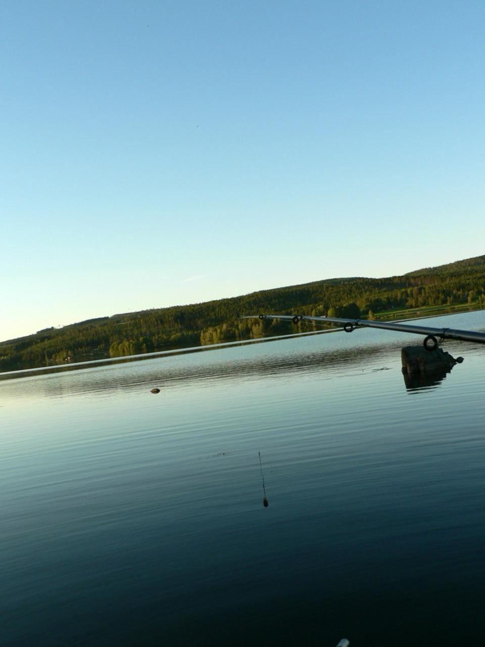 Free photograph; fishing, rod, dusk, sea
