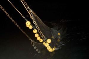 fishing, net, night