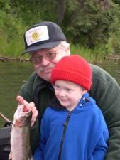 petit-fils, grand-père, la pêche