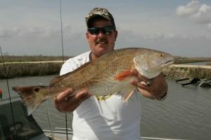 onnellinen, kalastaja, kala, kiinni