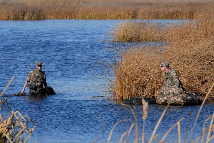 hunters, wade, wetlands, hunting, waterfowl