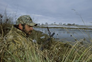 men, camouflage, hunting, gear