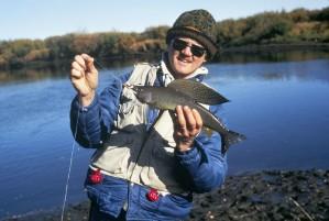 rekreasjon, fiskere, fangst