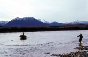 river, shoreline, seine, fishing