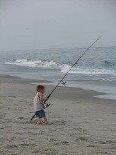 young boy, reels, catch
