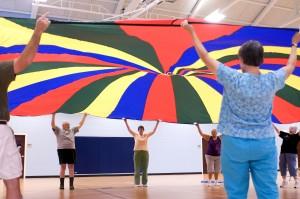 aerobik, ponavljajući, gibanje, pokreti