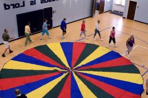 exercice, classe, stretching, aérobic, répétitives, mouvement, mouvements