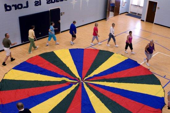 tập thể dục, lớp học, kéo dài, aerobic, lặp đi lặp lại, chuyển động, phong trào