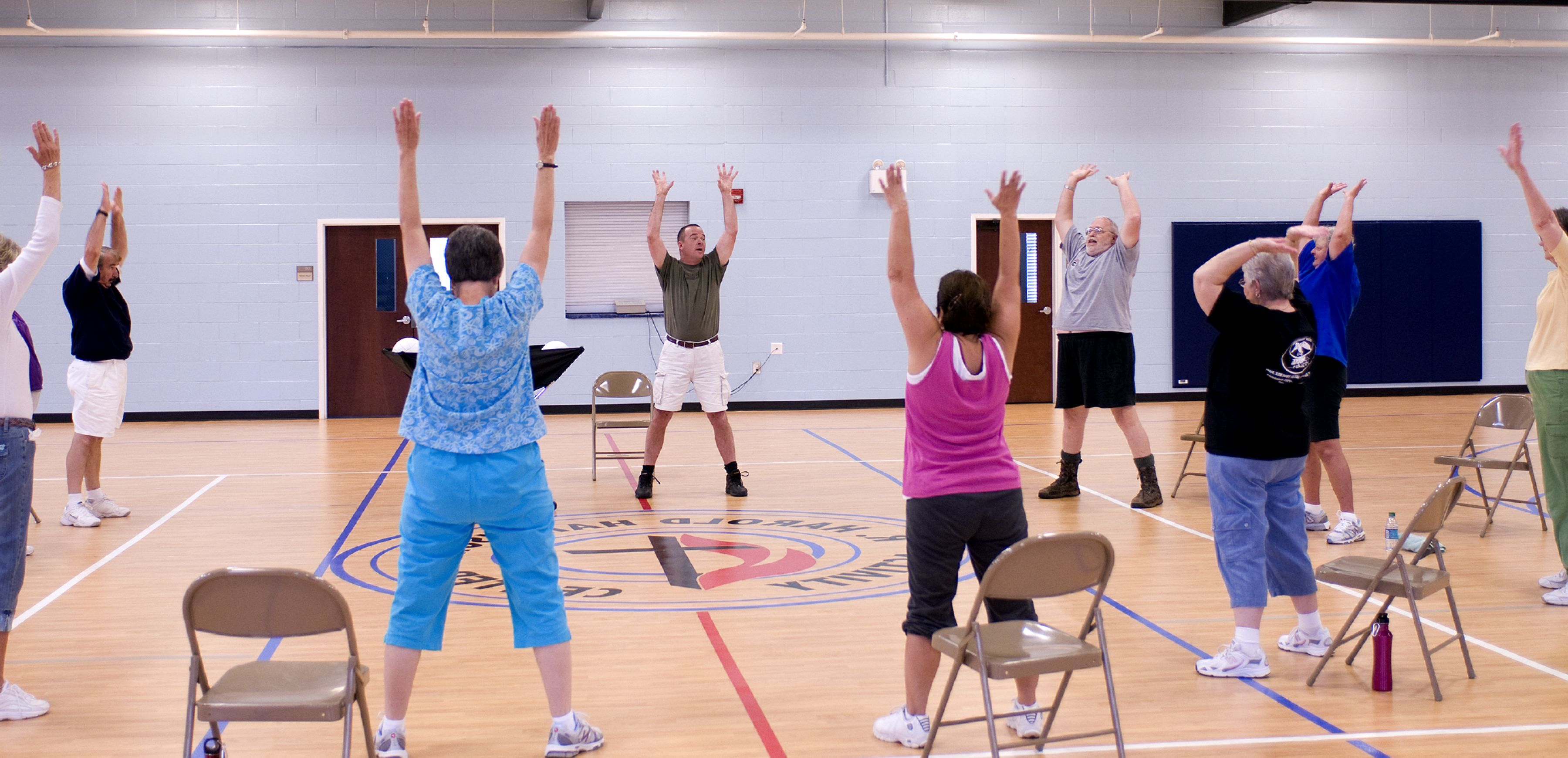 Free picture: exercise, class, stretching