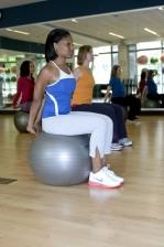vrouwelijke, lichaam, uitrekken, Oefeningen